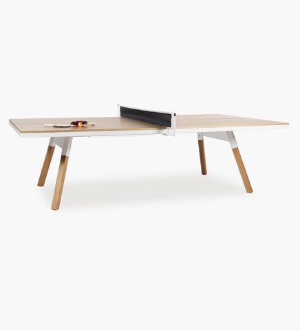 RS Barcelona You and Me Oak-White Standard Tennis Table