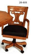 Berner Billiards Chair in Oak with Wood Back
