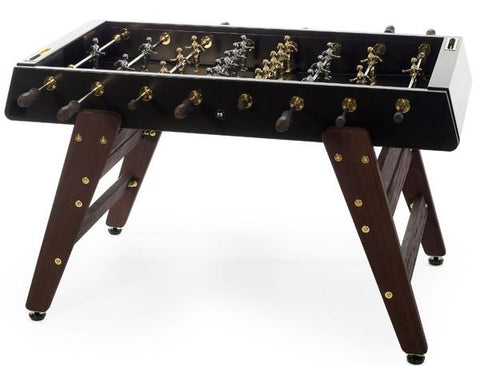 RS Barcelona RS3 Wood Black GOLD Foosball Table