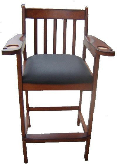 Berner Billiards Spectator Chairs in Antique Walnut