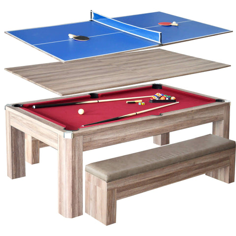 Carmelli Newport 7-ft Pool Table Combo Set w/ Benches