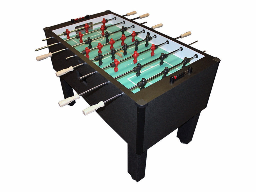 Shelti Home Pro Foosball Table in Charcoal Matrix with Stainless Rods and Wood Handles