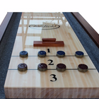 Playcraft Charles River 16'  Pro-Style Shuffleboard Table in Chestnut