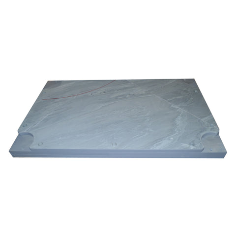 "Imperial 107"" x 57"" x 1"" Drilled Three Piece Slate Bed For Brunswick Tables"