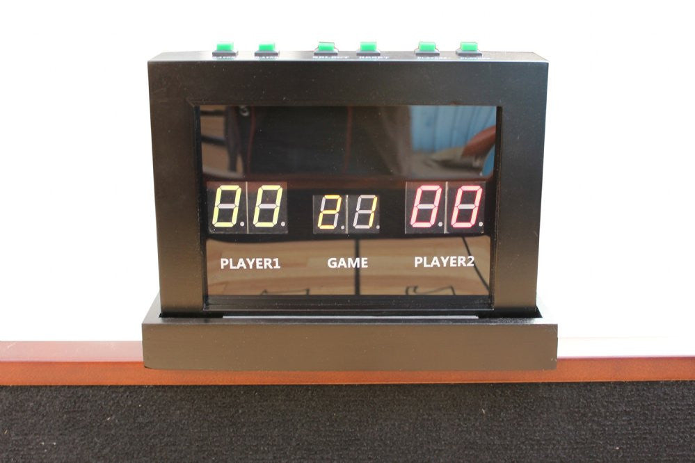 Berner Electronic Scoreboard, 2-Player in Oak, Cherry, Espresso, Mahogany, Walnut & Black