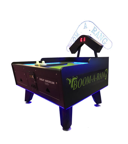 Great American Boom-A-Rang Air Hockey Table w/ Electronic Scoring in Black