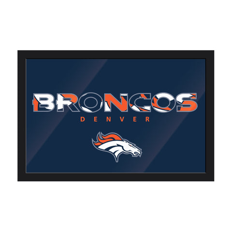 Imperial Denver Broncos Framed Modern Wall Art