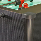 Shelti Home Pro Foosball Table in Carbon Fiber with Chrome Rods and Black Handles