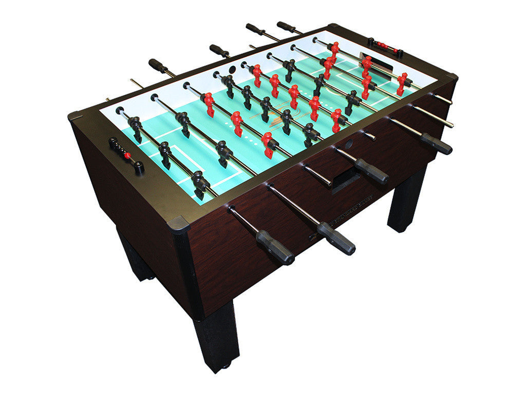 Shelti Home Pro Foosball Table in Mahogany with Stainless Rods and Black Handles