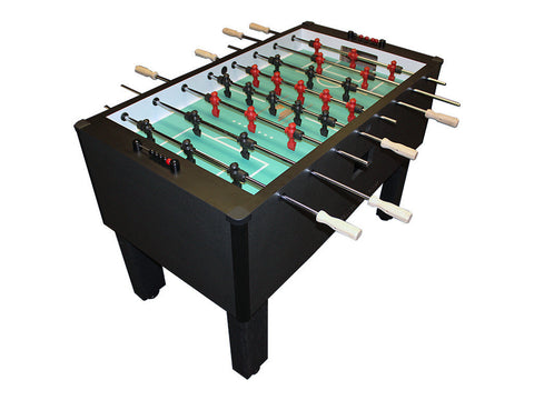 Shelti Home Pro Foosball Table in Charcoal Matrix with Chrome Rods and Wood Handles