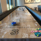 "Berner 16' ""The Weathered"" Shuffleboard Table in Desert Sand"