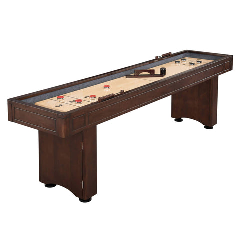 Carmelli Austin 9' Shuffleboard Table in Mahogany Finish