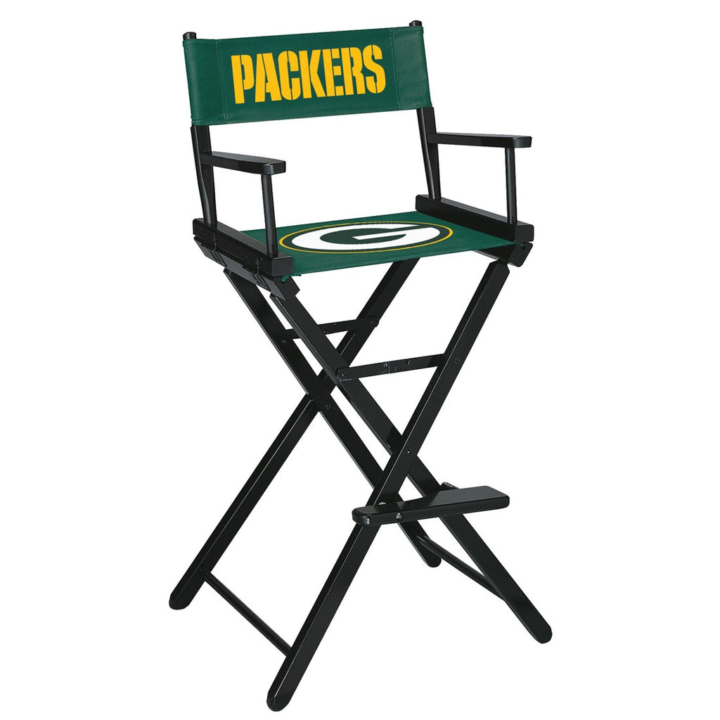 Imperial Green Bay Packers Bar Height Directors Chair