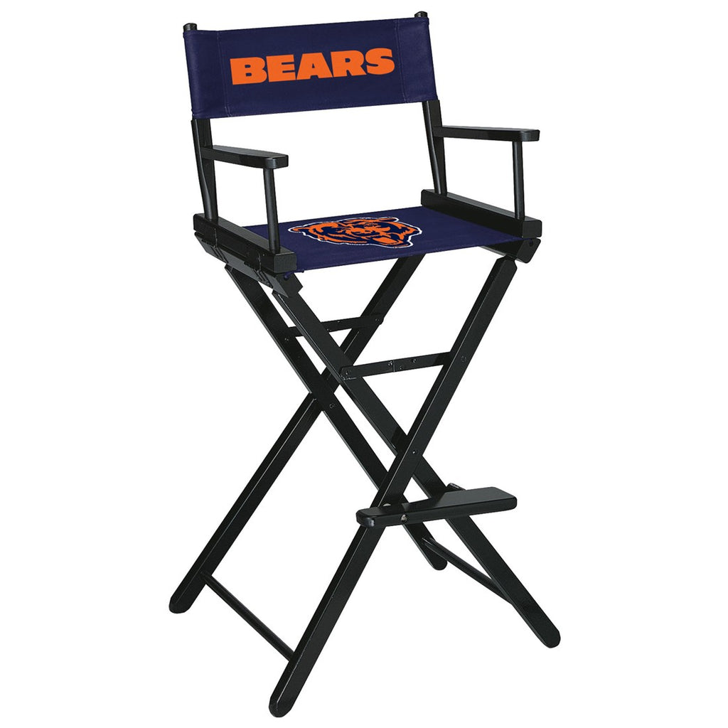 Imperial Chicago Bears Bar Height Directors Chair