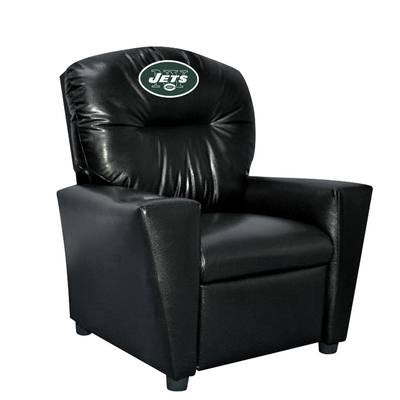 Imperial New York Jets Kids Faux Leather Recliner