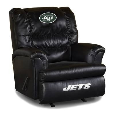 Imperial New York Jets Leather Big Daddy Recliner