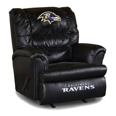 Imperial Baltimore Ravens Leather Big Daddy Recliner