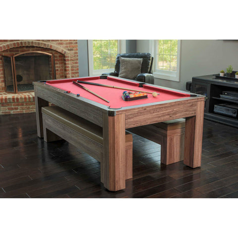 Remarkable Carmelli Newport 7 Ft Pool Table Combo Set W Benches Pdpeps Interior Chair Design Pdpepsorg