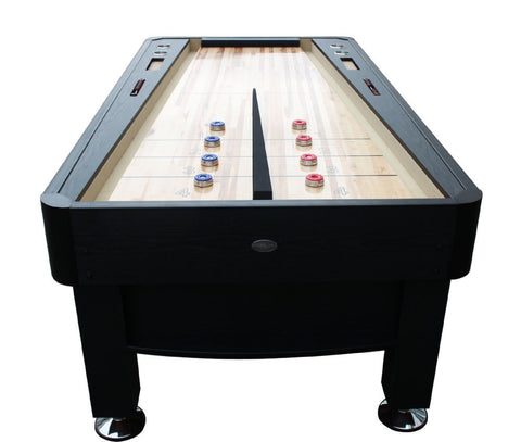 "Berner ""The Rebound"" 7' Shuffleboard Table in Black w/optional Ping Pong Top"