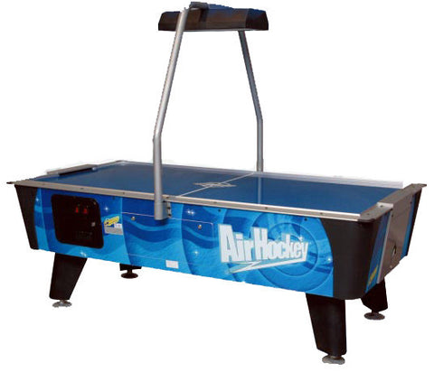 Dynamo 7' Blue Streak Air Hockey Table with Overhead Electronic Scoring (Coin)