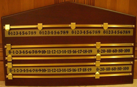 Berner Wood Scoreboard, 4 players in Oak, Mahogany, Walnut or Black
