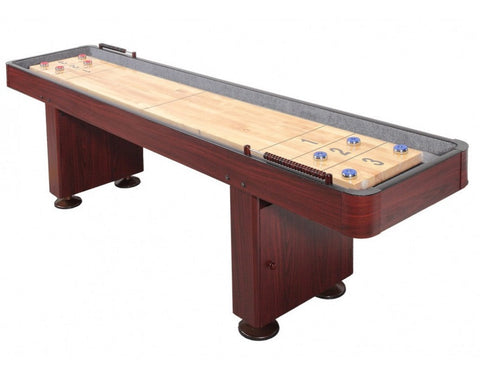 Carmelli Challenger 12' Shuffleboard in Dark Cherry Finish