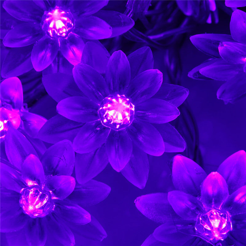 High Quality 25m 20 Led Lotus Flower Lamp Party Lights Blissed