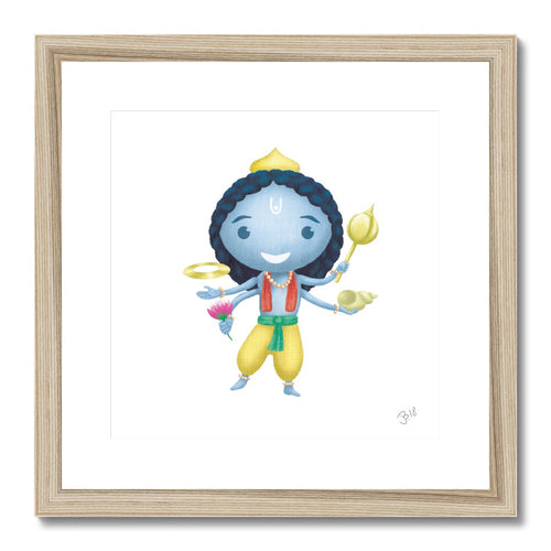 Vishnu JaiJai Framed & Mounted Print - The Jai Jais