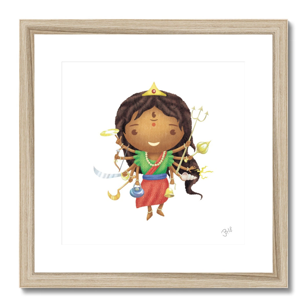 Durga JaiJai Framed & Mounted Print - The Jai Jais