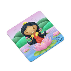 Lakshmi/Krishna 2 Sided Plastic Puzzle In Presentation Tin - The Jai Jais