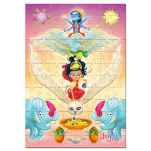Lakshmi Jai Jais Wooden Puzzle in Presentation Tin - The Jai Jais