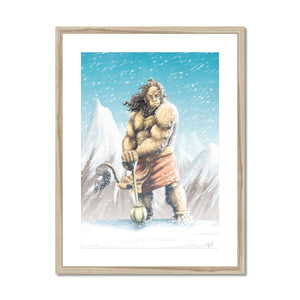 Hanuman Mountaintop Framed & Mounted Print - The Jai Jais
