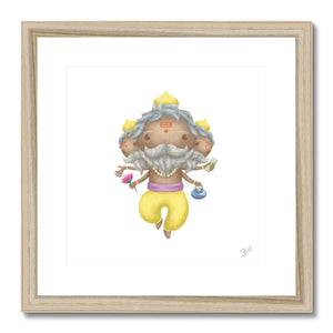 Brahma JaiJai Framed & Mounted Print - The Jai Jais