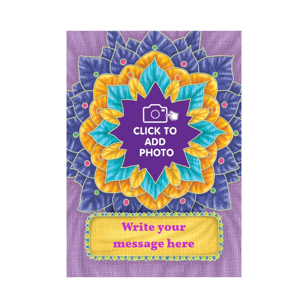 Flower Burst Personalised Photo Card - The Jai Jais