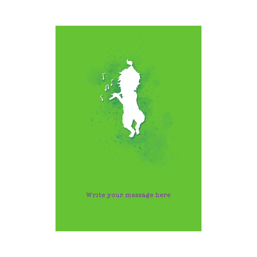 The Jai Jais Silhouettes Personalised Card - Krishna Plays - The Jai Jais