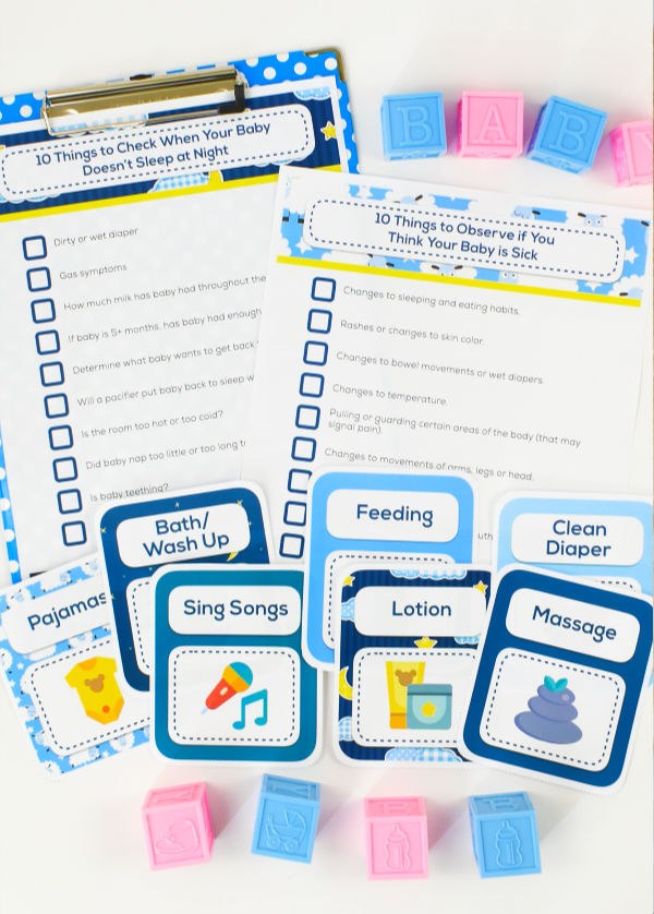 Baby Sleep Checklists Printable Pack