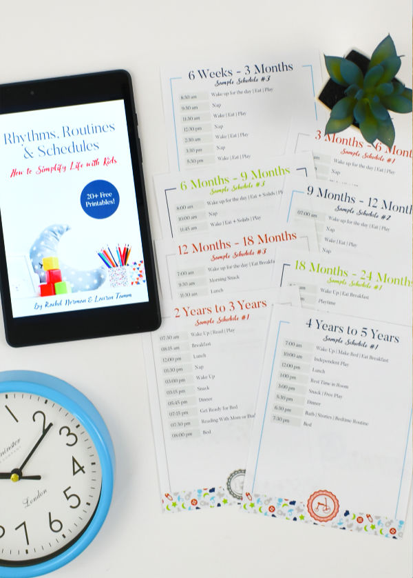 Rhythms, Routines, & Schedules eBook + Printable Pack