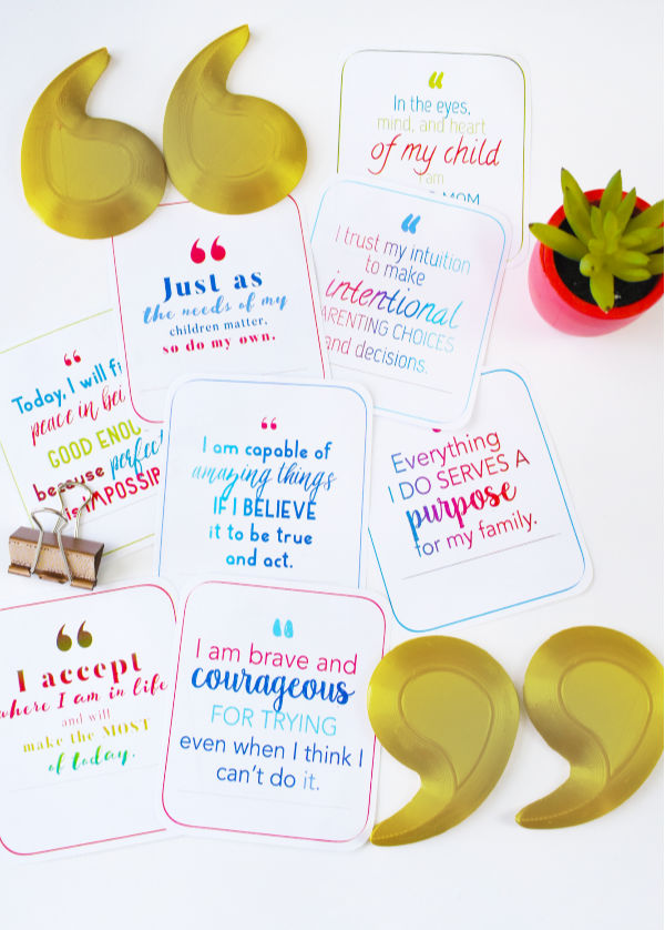 """You're a Good Mom"" Printable Affirmation Cards"