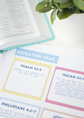 Conquer Fear Scripture Cards