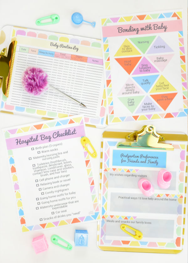 Pregnancy Birth Postpartum And Newborn Printable Worksheets A Mother Far From Home Shop