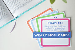 Weary Mom Scripture Cards