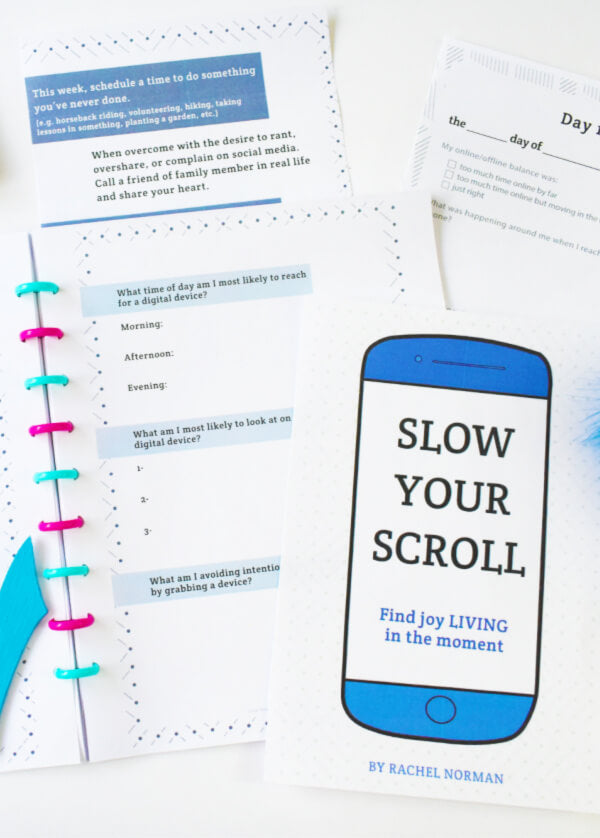 Slow Your Scroll Digital Detox Journal
