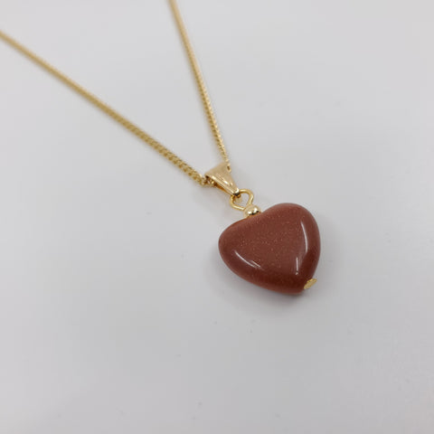 Goldstone Heart Necklace - ilovesphinx