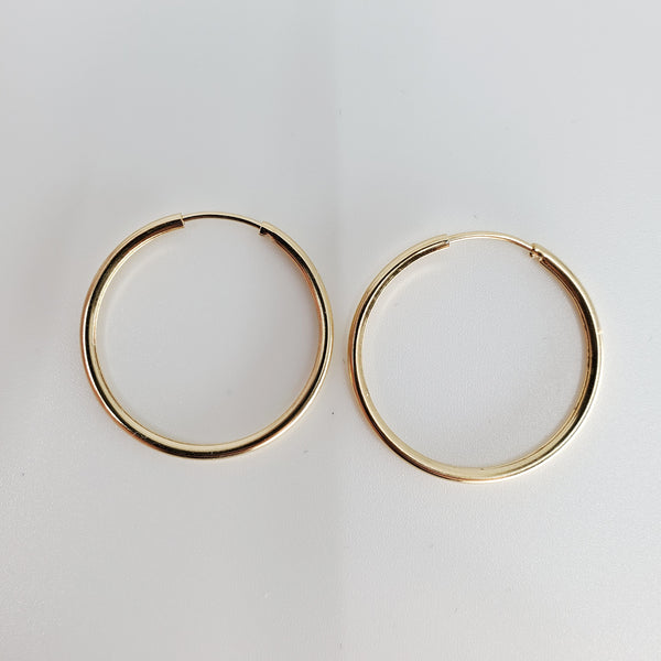 Small Thin Hoops 30mm - ilovesphinx