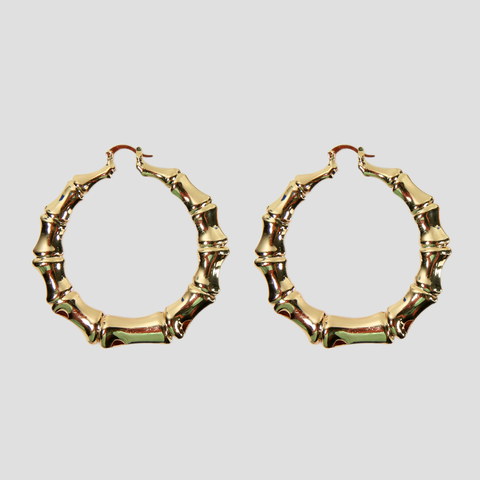 Big Round Bamboo Hoops 60mm - ilovesphinx