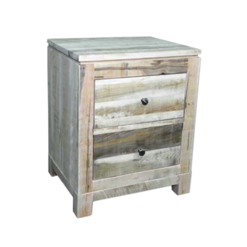 Rustic Metro 2 Drawer Nightstand