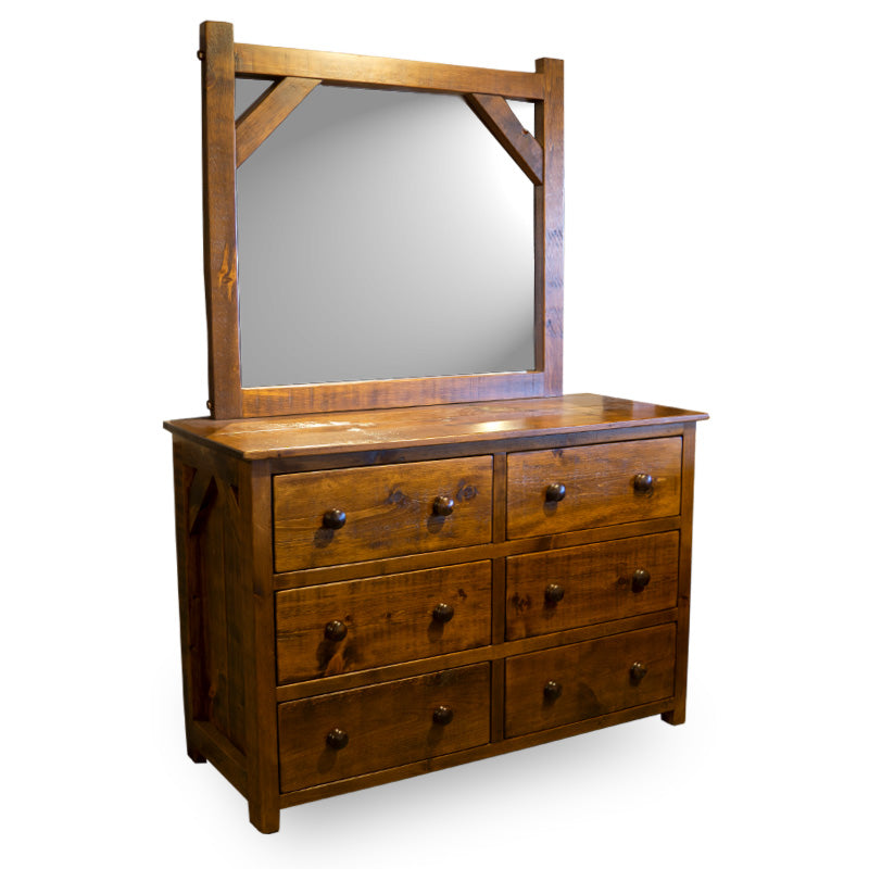 Barn Board Dresser & Mirror (New Wood Only)