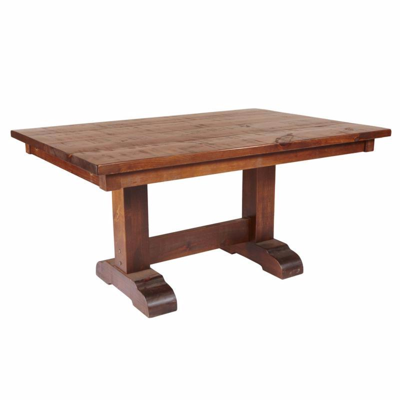 Barn Board Double Pedestal Table