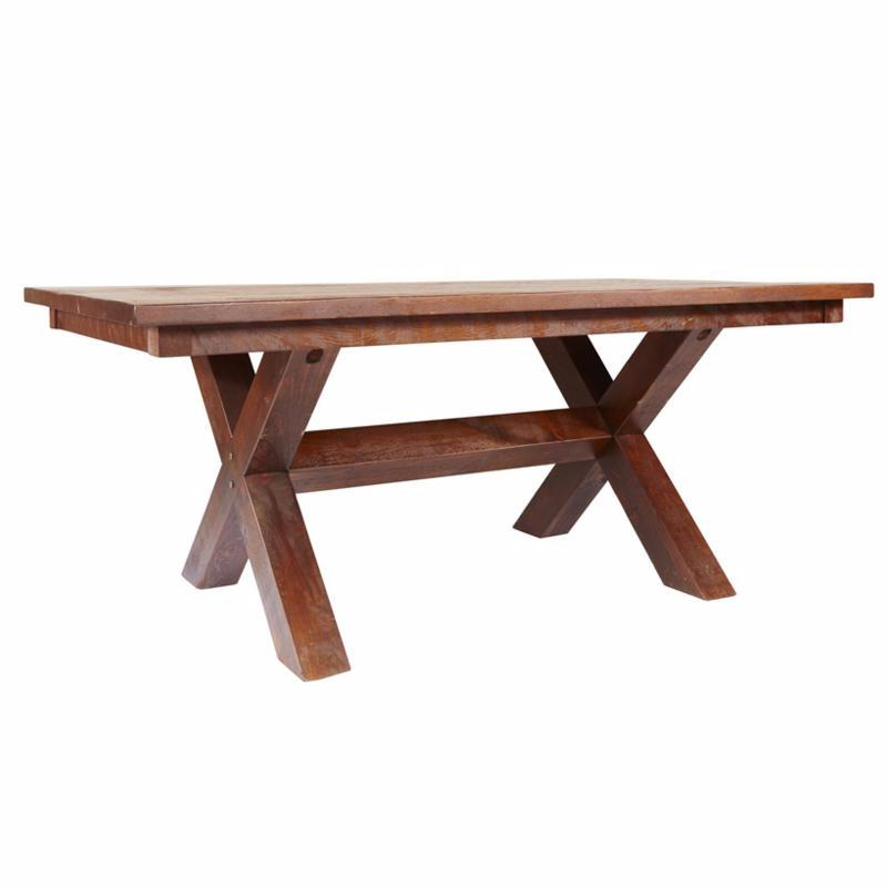 Barn Board Sawbuck Table