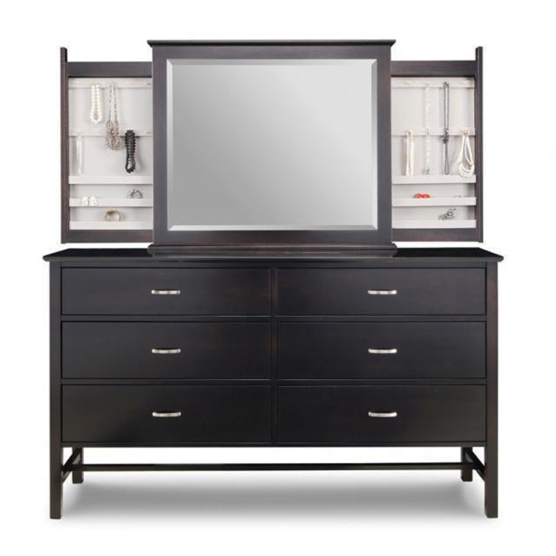 Brooklyn Deep Long Dresser with Jewellery Mirror